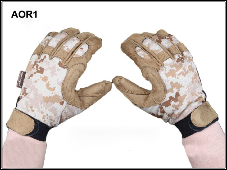 Cool weather shooting gloves AOR1 Full-finger ligth assault gloves AOR2 camo special operations patrol gloves tactical