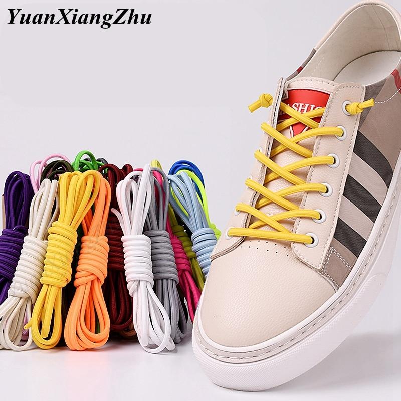 1Pair Semicircle Shoelace No Tie Shoelaces Kids Adult Unisex Shoelaces Flat Sneakers Shoelace Quick Lazy Laces Strings 20 Color