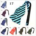Модные Мужские Bowties Сплошной Цвет Равнина Шелка Самостоятельная Галстук Галстуки-бабочки человек аксессуары