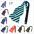 fashion Mens Bowties Solid Color Plain Silk Self Tie Bow Ties man accessories