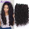 Peruvian Water Wave 3 Bundles Peruvian Virgin Hair Wet and Wavy Human Hair Weave Bundles Peruvian Loose Curly hair Ms Here hair