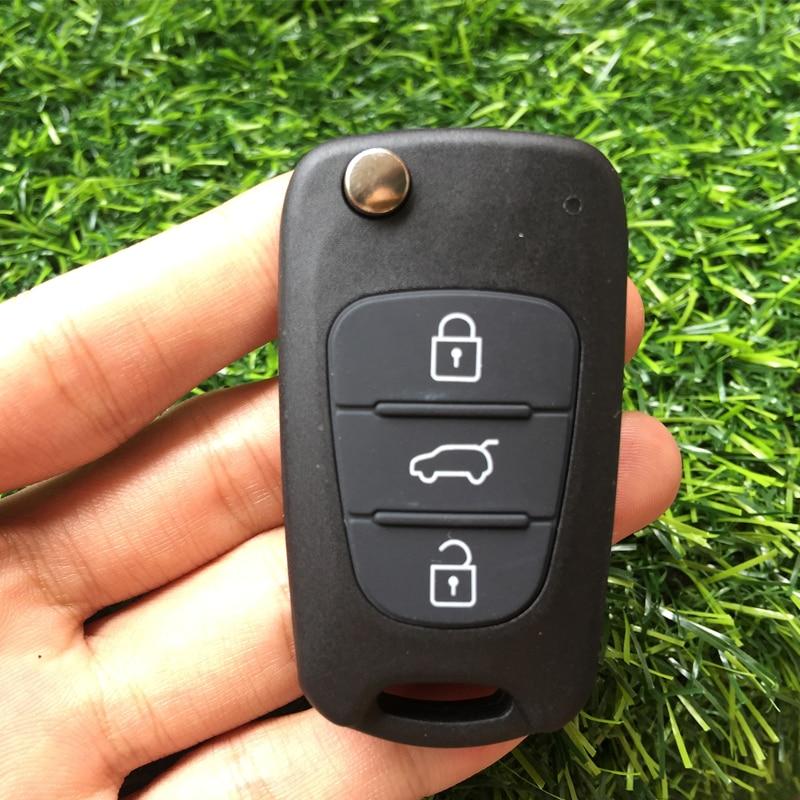 Image 2 - 10pcs 3 Button Remote Key shell Fob For Hyundai Avante I30 IX35 For Kia K2 K5 Sorento Sportage Folding Car Key blank cover case-in Car Key from Automobiles & Motorcycles