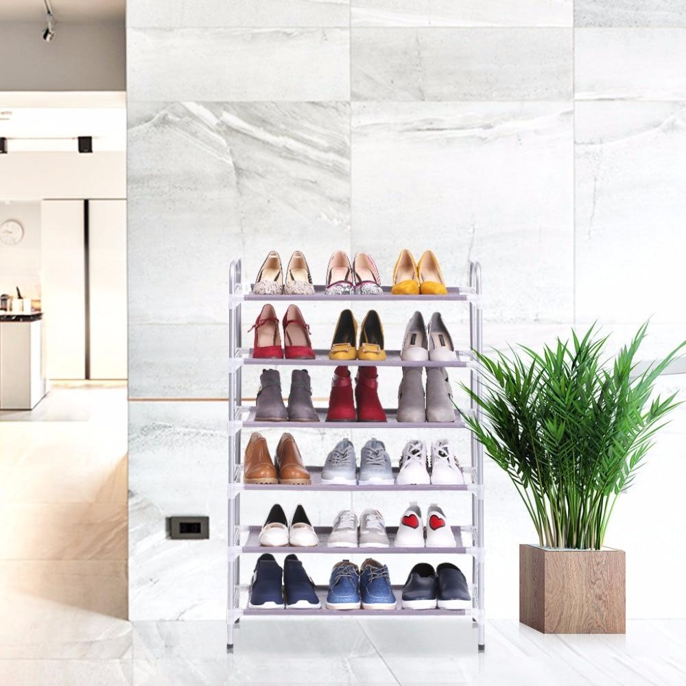 Adjustable 4 Floor Shoe Rack Shoe Tower Shelving Storage Organizer ...