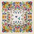 Размер: 130*130 см Hot! саржа Шелковые женские шарфы 2017 новый Осень зима более птица цифровая печать женский шелковый шарф платок подарок