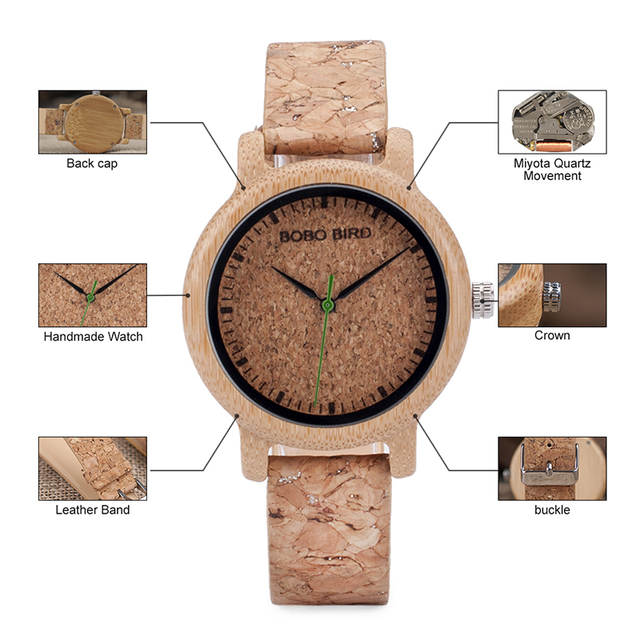 BOBO BIRD M12 Bamboo Wood Quartz Watch For Men And Women Wristwatches Top Brand Luxury With Japan Movement As Gift 5