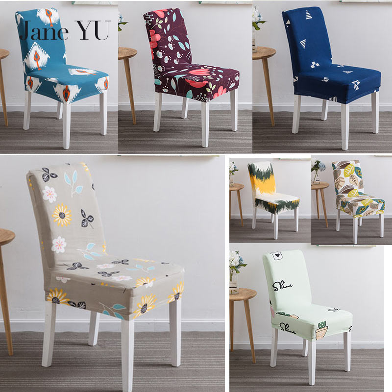23 colors Printed Spandex Stretch Dining Chair Cover Machine Washable Banquet Muliti Style European Floral Pattern Slipcover