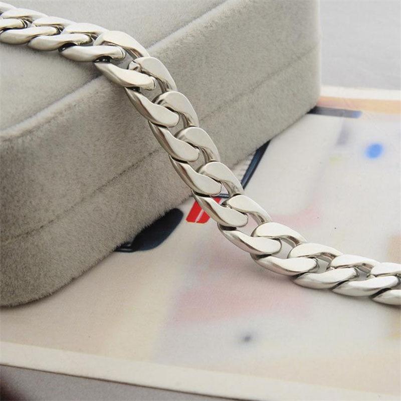Men s hip hop stainless steel punk rock bracelet Cuban brake chain men s bracelet women