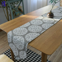 SunnyRain Cotton Linen Table Runner Plate Mat Sets Christmas Table Runners Christmas Decorations for Home Table