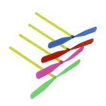 12pcs Novelty Plastic Bamboo Dragonfly Propeller Outdoor Toy Kids Gift Flying
