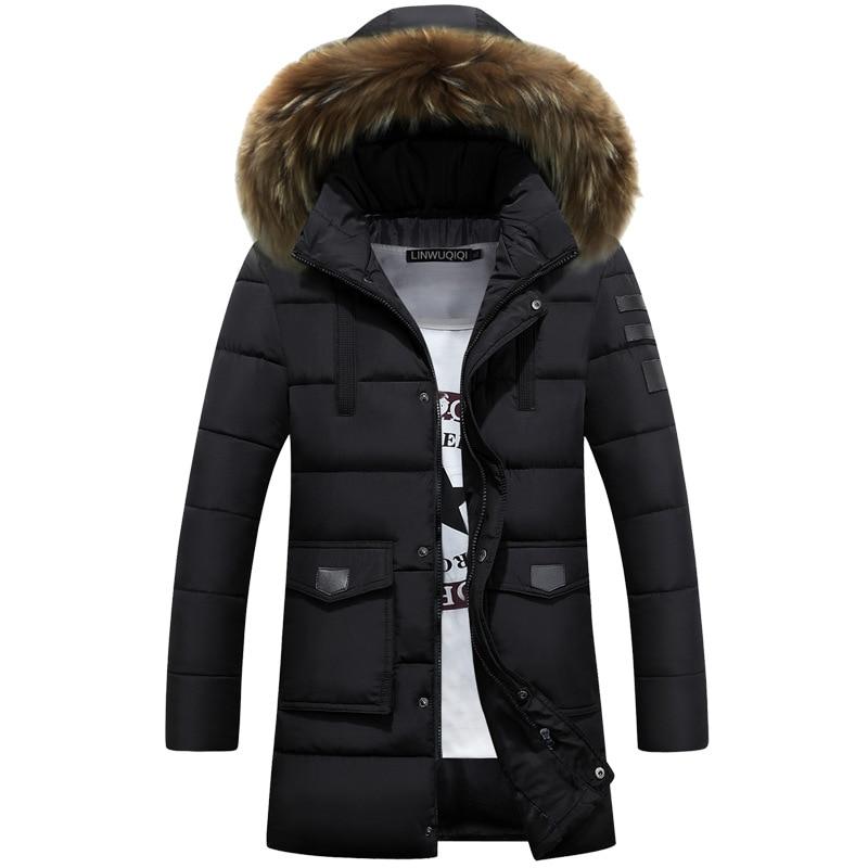 2019 new men winter jacket Parkas fur hooded thickened warm coat outwear M-3XL AXP07