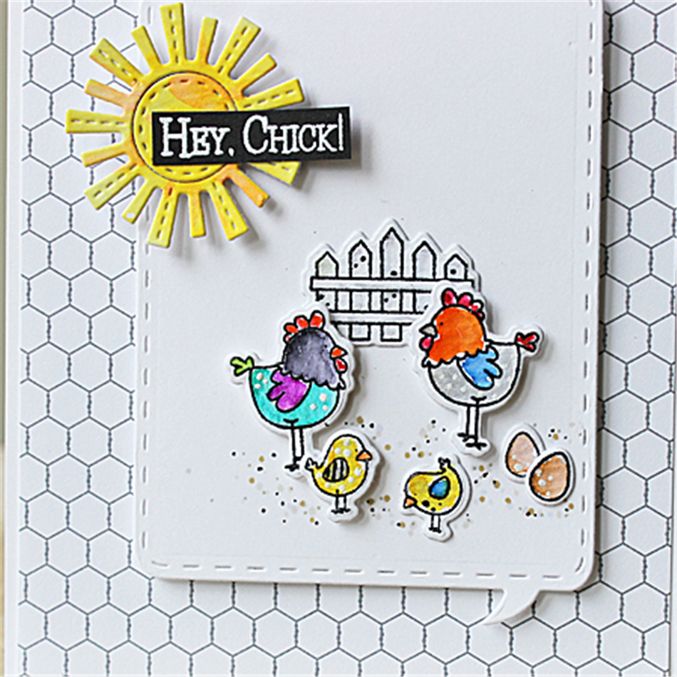 Eastshape 8Pcs Animals Metal Cutting Dies Chick Crafts Frame DIY Scrapbooking Craft 104*65.9mm Embossing Stencil 2019 New Card