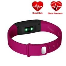 V07 Reloj Inteligente de La Presión Arterial Ritmo Cardíaco Deporte Pulsera Wrist Band Gimnasio Rastreador Podómetro Pulsera Bluetooth Para iOS Android