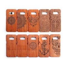 Wood Case For Samsung Galaxy S8 Plus 100% Natural Rosewood Carving G9500 G9550 Back Cover