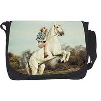 Bolsas Cute Animal Crazy Horse Poodle Teenager Girls Messenger Bag Children Cross Body Bag For Women