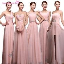 ladies petal chiffon sweetheart beaded waist dress women s bridesmaid  dresses long different style light pink strapless a2e44eb32f53