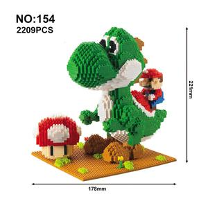 Image 2 - Model Building Blocks Cartoon Anime Figures Assembled Mini Brick Educational Toys For Children