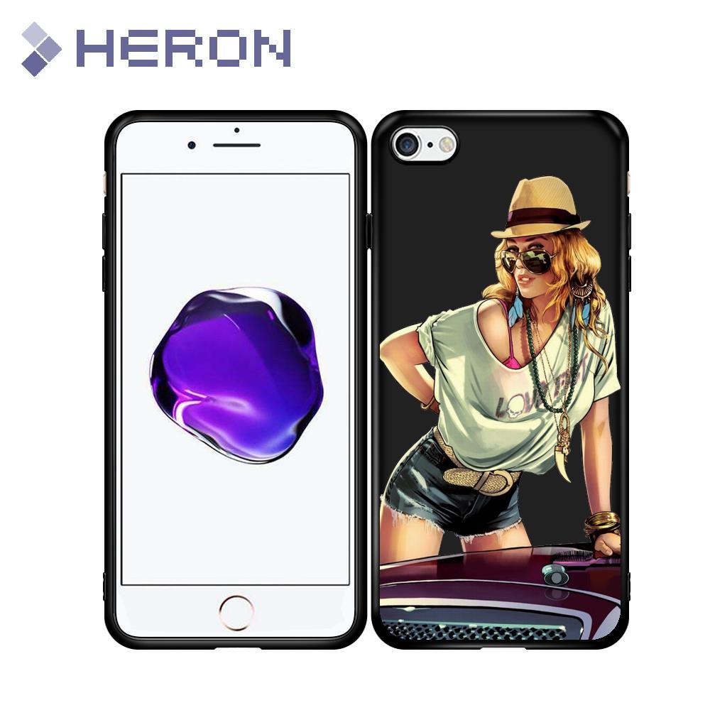Super Thin Matt Soft Case For iPhone 5 5s SE 6 6s Plus 6+ i7 7+ i8 i8+ X iX GTA V 5 Grand Theft Auto Dog Full Fit Back Cover