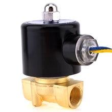 Электромагнитный клапан dc 12 В 3/8 дюйма npt n/c Латунный нормально