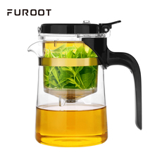 Furoot Chinese Puer Tea Glass Teapot Elegant Blooming Flower Tea Can Unpick And Wash Teapots For Infusions Milk Oolong Tea Cups