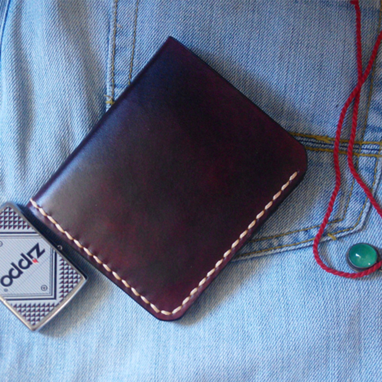 Personal Tailor Handmade Vegetable Tanned Leather Mens Wallet Leather Genuine Top Quality Cow Leather Handmade Leather
