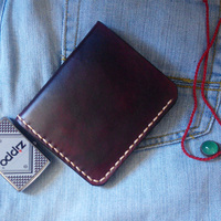 Personal Tailor Handmade Vegetable Tanned Leather Mens Wallet Leather Genuine Top Quality Cow Leather Handmade Leather Wallet