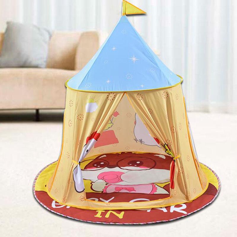 Drapeau de suspension portatif de maison de tente pliable portative de piscine sèche d'enfants avec le Style indien bébé Wigwam comme décor éducatif de pièce de cadeau