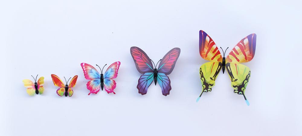 12 Pcs 3d Dubbele Laag Vlinder Muur Sticker Op De Muur Voor Home Decor Diy Vlinders Koelkast Magneet Stickers Kamer Decoratie