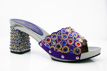Lila Besten Preis Afrikanischen Sandalen Dame Schuhe Freies Verschiffen Italien High Heels Für Party Auf Lager! HK1-12