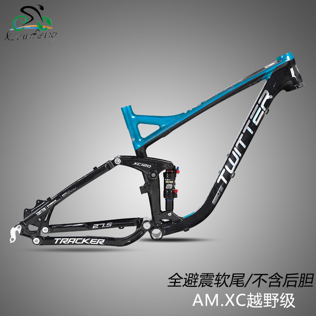 Twitter Tacker Full Suspension Soft Tail Frame AM Without Rear Shock Aluminum Alloy MTB Mountain Bikes Frame 27.5er 17