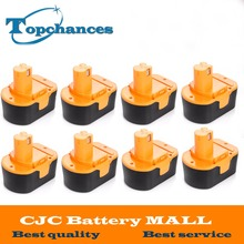 8PCS High Quality 14.4V 2000mAh NI-CD Power Tool Battery For RYOBI 130281002 RY62 RY6200 RY6201 RY6202 STPP-1441 14.4 Volt