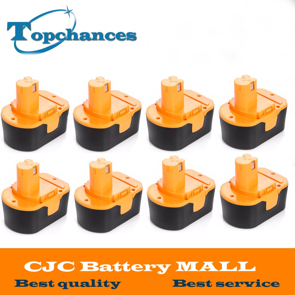 8PCS High Quality <font><b>14.4V</b></font> 2000mAh NI-CD Power Tool Battery For RYOBI 130281002 RY62 RY6200 RY6201 RY6202 STPP-1441 14.4 Volt image