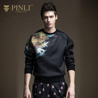PINLI Pinly Head Of Black Men S Sweater Male Wind China Boys Male Men S Coat