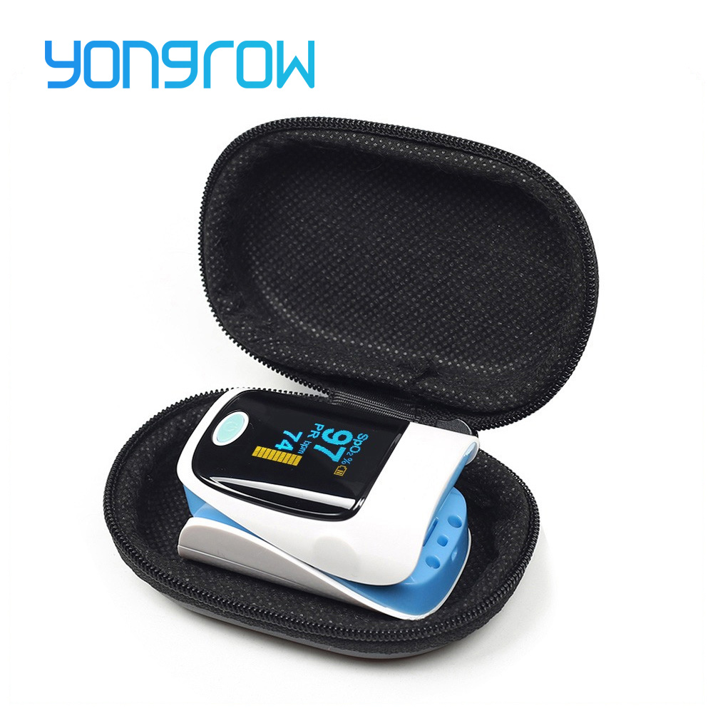 Yongrow Medical Household Digital Fingertip pulse Oximeter Blood Oxygen Saturation Meter Finger SPO2 PR Monitor CE Portable hot sale mini spo2 fingertip pulse instant read digital oximeter blood oxygen sensor saturation monitor meter