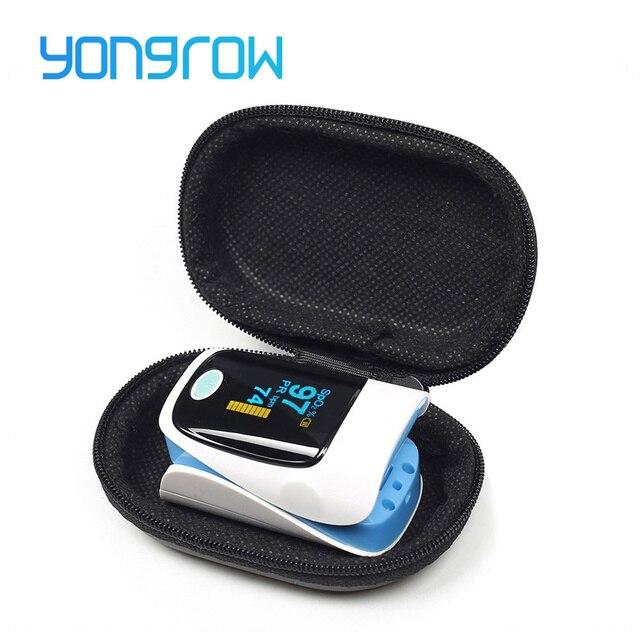 Yongrow Medical Household Digital Fingertip pulse Oximeter Blood Oxygen Saturation Meter Finger SPO2 PR Monitor health Care CE 5