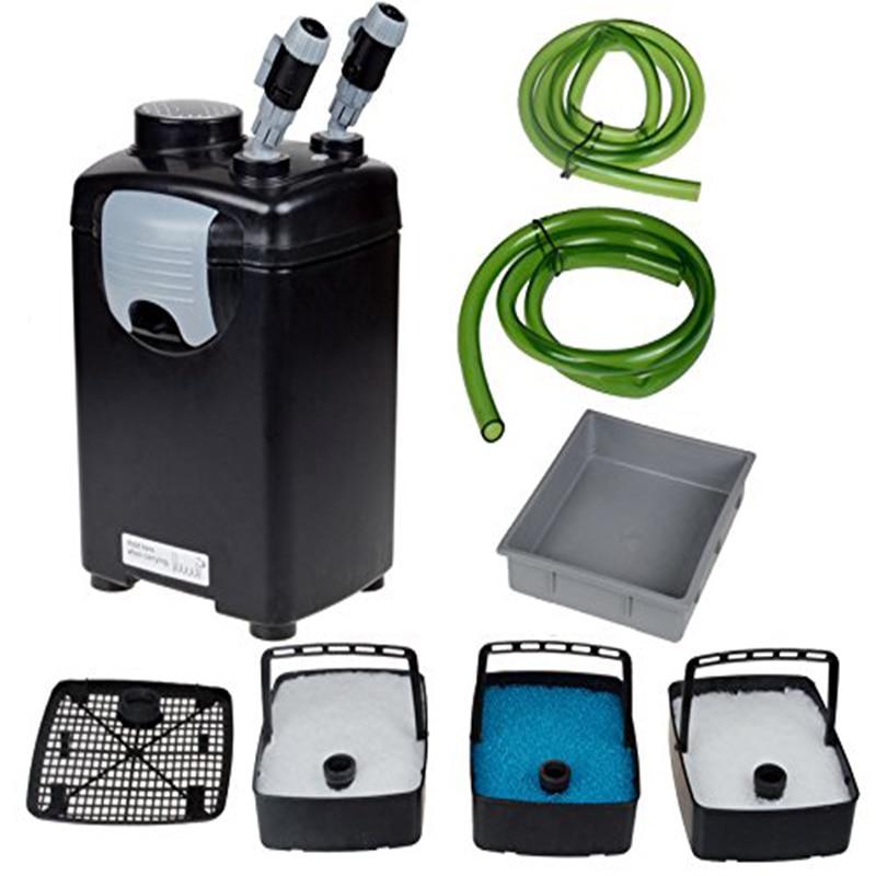 NCFAQUA JEBO 835 3 etapa acuario externa filtro para 300 litros tanque de pescado marino arrecife de agua salada filtración 22 W 1000L/h