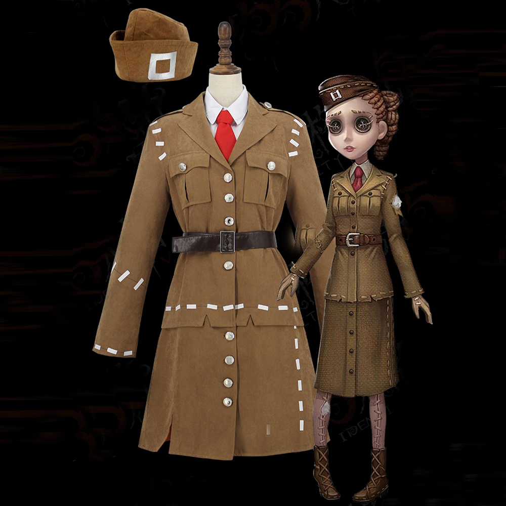 Game Identity V Costume Air Force Soldier Cosplay Costume For Women Uniforms Adult Halloween Carnival Costume Full Set