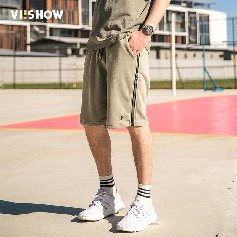 VIISHOW NEW Summer Mens Shorts Casual Short Brand Clothing Men Zip Size Shorts Men Knee  ...