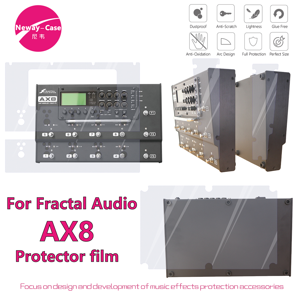 Neway-Case Fractal Audio AX8 Electric Guitar Effect Film Protector Guitar Pedal AccessoriesNeway-Case Fractal Audio AX8 Electric Guitar Effect Film Protector Guitar Pedal Accessories