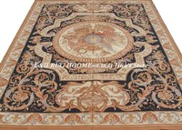 Free shipping 9'x12' Stunning French style aubusson carpets/rugs for home decoration classical black colors