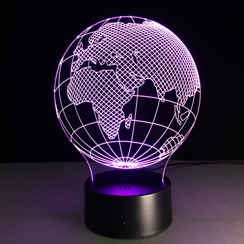 LED USB Colorful Night Lamp 3D Africa Map Lamp Kids Gift ...
