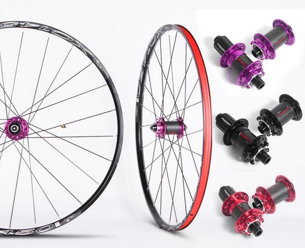MTB Mountain Bike font b Bicycle b font Sealed Bearing Thru Axis Carbon Fiber Hub Wheels