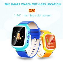 เด็กgps smart watchนาฬิกาข้อมือsosสถานที่ตั้งอุปกรณ์ติดตามสำหรับเด็กปลอดภัยต่อต้านหายไปตรวจสอบเด็กของขวัญQ80 PK Q50 Q60