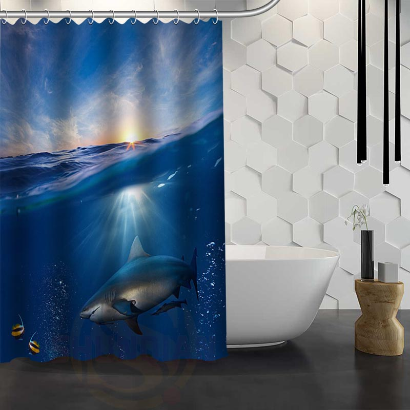 Aliexpress.com : Buy Custom Shark Shower Curtain Waterproof Fabric Shower  Curtain For Bathroom WJY1.17 From Reliable Curtains Waterproof Suppliers On  ShunXi ...