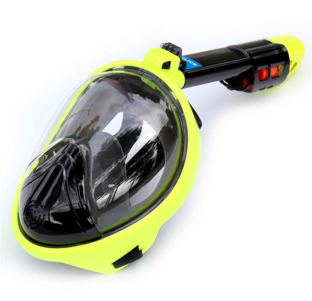 2018 Full Face Snorkeling Masks Panoramic View Anti-fog Anti-Leak Swimming Snorkel Scuba Underwater Diving Mask GoPro Compatible 2018 new underwater scuba anti fog full face diving mask snorkeling set respiratory masks safe and waterproof