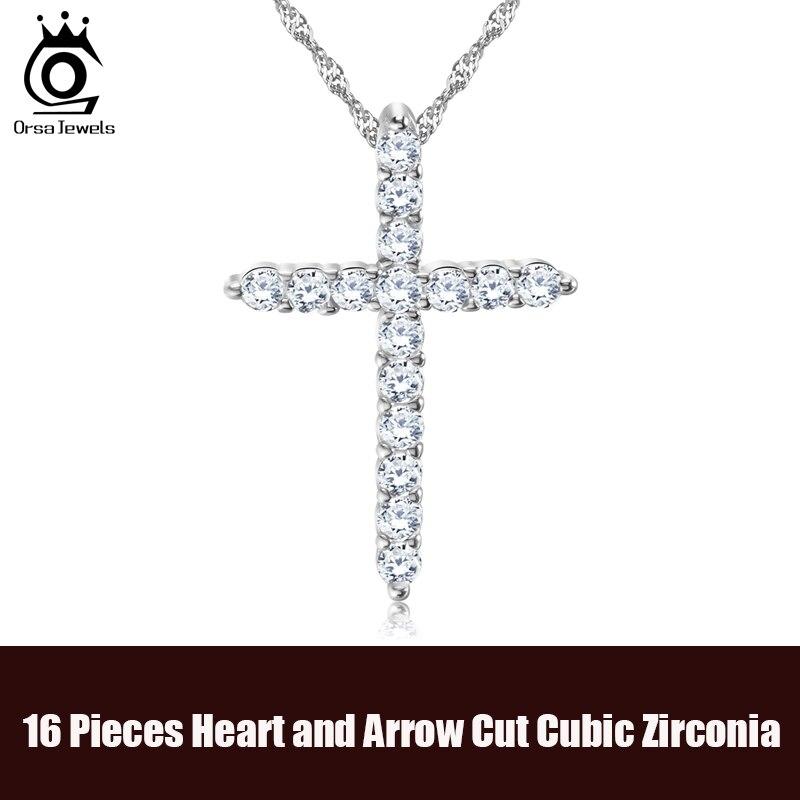Luksuzni križ privjesak ogrlica od 11 komada princeza cut kubni - Modni nakit - Foto 2