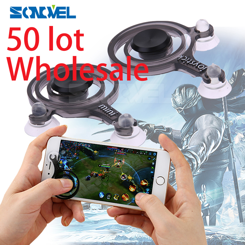 50 set China Hot Game joystick Smartphone Mini Joysticks Touch Screen For Phone tablet Arcade Moba Games trade price wholesale sanwa button and joystick use in video game console with multi games 520 in 1