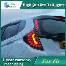 Car Styling Tail Lamp case for Honda Fit 2014 Tail Lights LED Tail Light Rear Lamp LED DRL+Brake+Park+Signal Stop Lamp