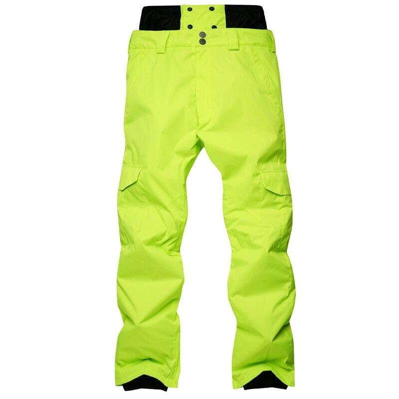 Nouveauté hiver pantalon de Ski pour hommes en Nylon et Spandex remplissage de tissu respectueux de l'environnement PP coton couleur snowboard pantalon taille S-XL - 5