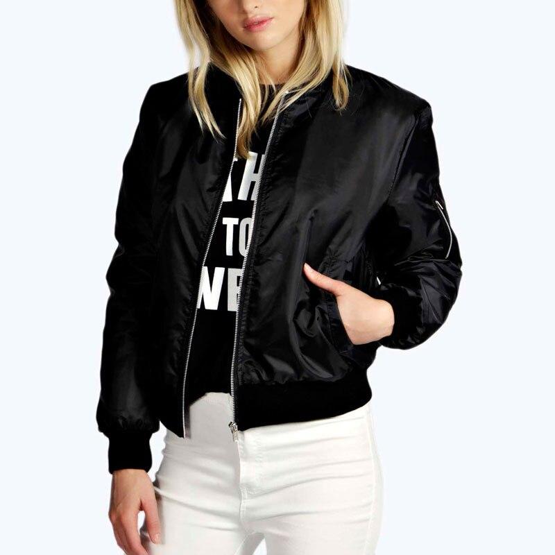 ZANZEA Fashion Coats 2017 Autumn Winter Women Thin Jacket Bomber Long Sleeve Coat Casual Stand Collar Outerwear Plus Size S-5XL