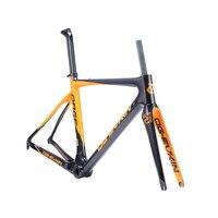 OG-EVKIN DI2 Mechanical Bicycle Frameset 49 52 54 56cm Light Carbon Road Bike Frame Carbon Road Frame 2018 Race Bike 3K Glossy 3